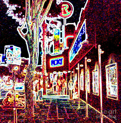 Mixed Media - Sunset Strip - Red by Alicia Hollinger