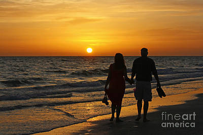 Photograph - Sunset Stroll by Bob McGill