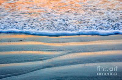 Digital Art - Sunset Surf by Georgianne Giese
