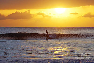 Sunset Surf Maui Art Print