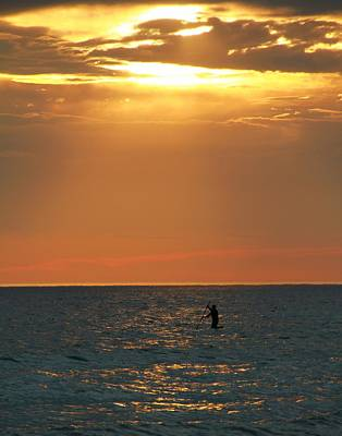 Wakeboard Photograph - Sunset Surfer by Dan Sproul