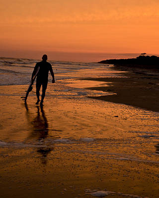 Photograph - Sunset Surfer Hilton Head Sc by Sally Ross