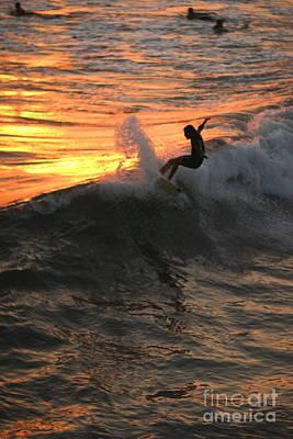 Photograph - Sunset Surfers by John F Tsumas
