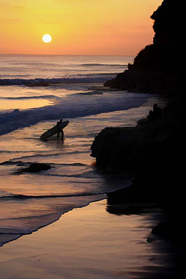 Digital Art - Sunset Surfer by Photographic Art by Russel Ray Photos