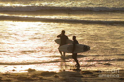 Photograph - Sunset Surfing by Pamela Walrath