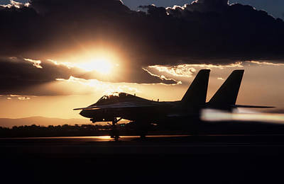 F-14 Photograph - Sunset Take Off by Peter Chilelli