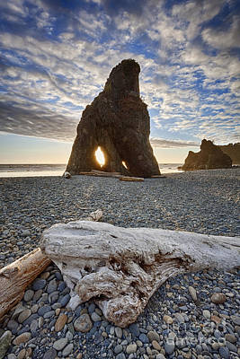 Photograph - Sunset Through Sea Stack by Bryan Mullennix