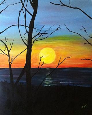 Painting - Sunset Through The Branches by Vikki Angel
