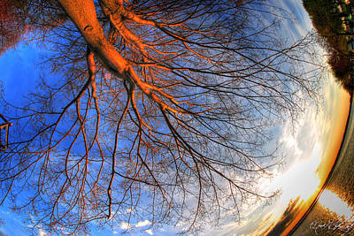 Sunset Photograph - Sunset Through The Fishes Eye by Michael Frank Jr