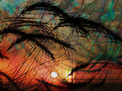 Digital Art - Sunset Through The Grass by Kiki Art