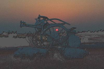 Photograph - Sunset Through The Old Plow by Richard Zentner