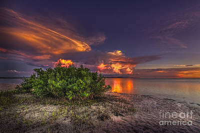 Sarasota Photograph - Sunset Thunder Storms by Marvin Spates