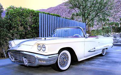 Car Auction Photograph - Sunset Thunderbird Palm Springs by William Dey