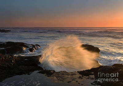 Sunset Tide Explosion Art Print
