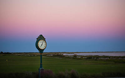 Sunset Time At The Ocean Course Art Print by Christy Cox
