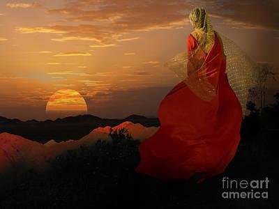 Sunset Tinic Original by Angelika Drake