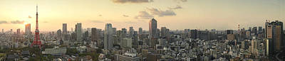 Photograph - Sunset Tokyo Tower Panorama by For Ninety One Days