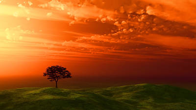 Sunset Tree Original by Kirsty Pargeter