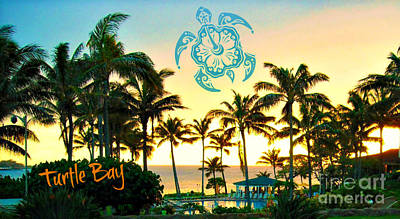 Photograph - Sunset Turtle Bay Oahu by Mindy Bench