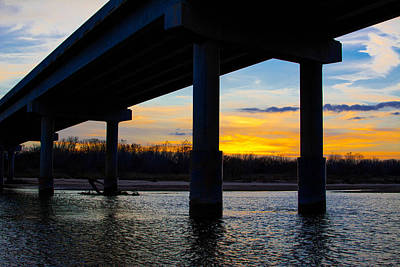 Photograph - Sunset Under The Bridge by Nathan Hillis
