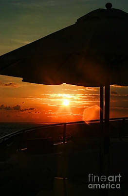 Photograph - Sunset Under The Umbrella By Diana Sainz by Diana Raquel Sainz