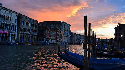 Photograph - Sunset Venice by Barbara Walsh