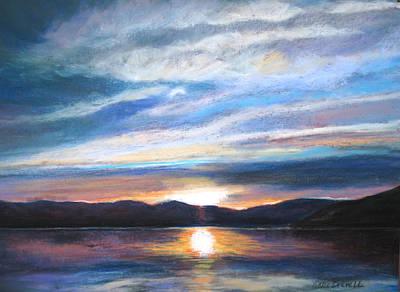 Sunset Art Print by Vicki Brevell