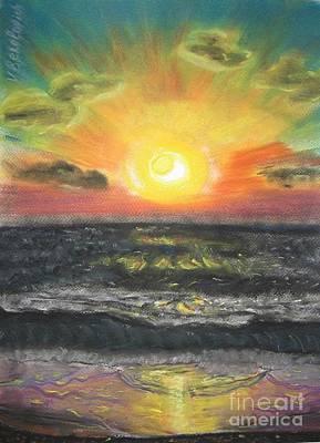 Sunset Art Print by Victor Berelovich