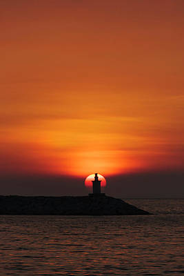 Manila Photograph - Sunset View Of Lighthouse In Manila by Keren Su