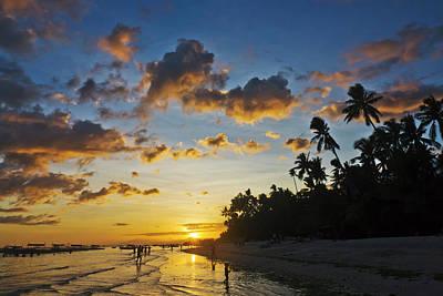 Sunset View Of The Beach, Bohol Island Art Print