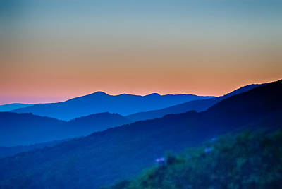 Photograph - Sunset View Over Blue Ridge Mountains by Alex Grichenko