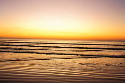 Sunset View Over Sea Art Print