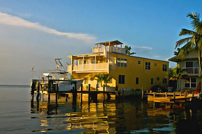 Photograph - Sunset Villas Conch Key by Ginger Wakem