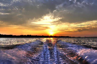 Photograph - Sunset Wake by Debra Forand