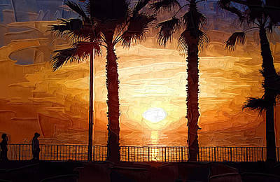 Sunset Walk Art Print by Kirt Tisdale