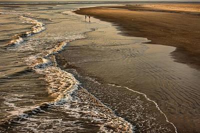Claude Monet - Sunset Walk on the Beach by Diana Powell