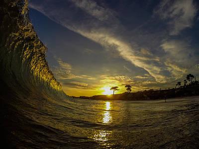 David Alexander Photograph - Sunset Wall by David Alexander