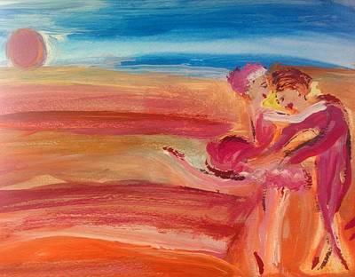 Sunset Waltz Art Print by Judith Desrosiers