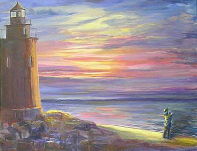 Painting - Sunset Watch by Karen Apostolico