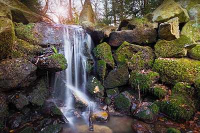 Photograph - Sunset Waterfalls In Marlay Park by Semmick Photo