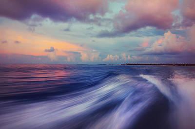 Impressionism Photos - Sunset Wave. Maldives by Jenny Rainbow