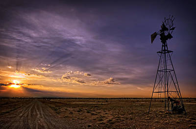 Photograph - Sunset Windmill by Ken Smith