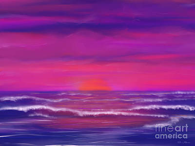 Sunset Winds Art Print by Roxy Riou