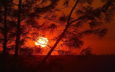 Photograph - Sunset With A Smokey Hue by AJ  Schibig