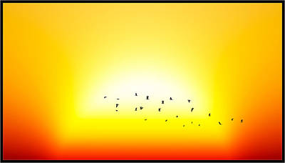Digital Art - Sunset With Birds... by Tim Fillingim