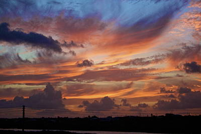 Sunset With Feathers In The Sky Art Print by Jennifer Lamanca Kaufman
