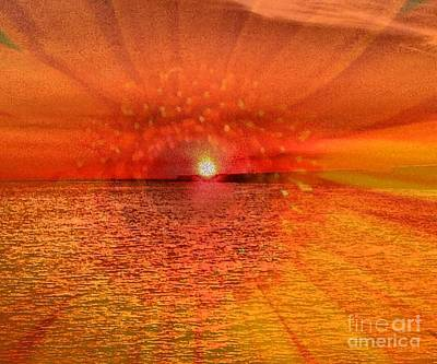 Art Print featuring the photograph Sunset With Flower By Saribelle Rodriguez by Saribelle Rodriguez