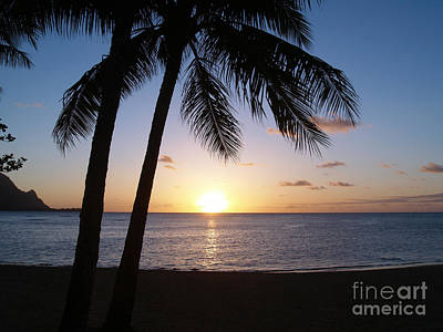Sunset With Palms Art Print
