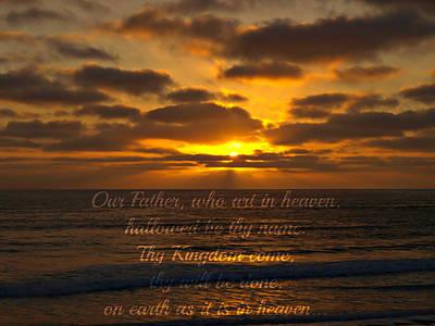 Sunset With Prayer Art Print by Sharon Soberon