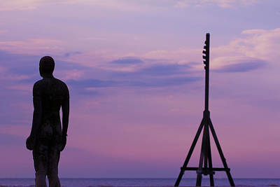 Photograph - Sunset With The Iron Man by Leah Palmer